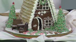 Local chef demonstrates how to build perfect gingerbread house
