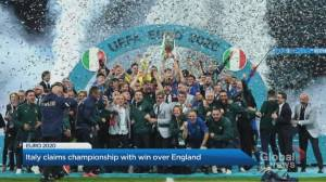 Italy claims championship with win over England (04:44)