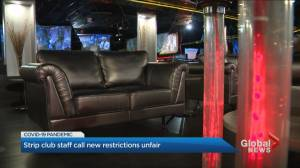 Coronavirus: Closing of strip clubs in Ontario a double standard, owners and employees say (02:35)