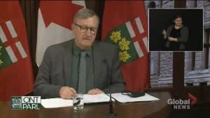 Ontario's top doctor applauds colleagues on International Women's Day (01:09)