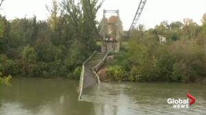 1 killed after suspension bridge collapses in France