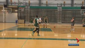 University of Alberta Golden Bears' basketball team preparing for playoffs