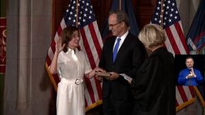 Kathy Hochul replaces Cuomo, becoming 1st female governor of New York (02:29)