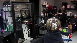 Calgary hair salon considers cutting social distancing after schools open with different rules