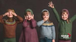 Alberta's Webb quadruplets are off to kindergarten (01:38)