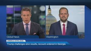 U.S. President Donald Trump continues to allege voter fraud (04:21)
