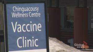 Coronavirus: Peel Region vaccinating residents aged 80+ (02:05)