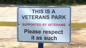 Items taken from a park dedicated to military veterans