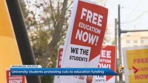 Ontario university students hold 1-day strike