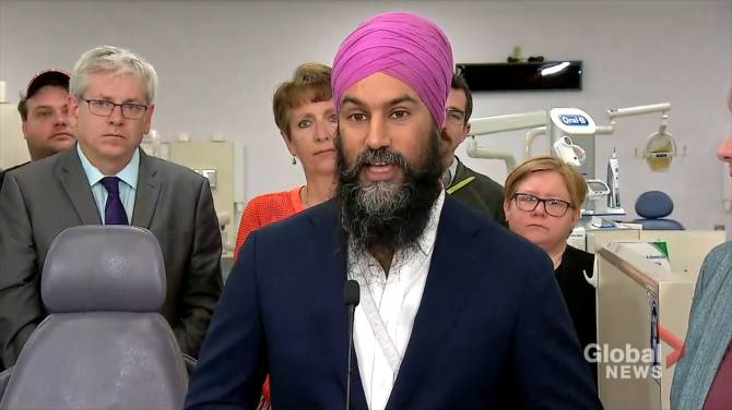 NDP's Singh vows to cover dental care for families earning less than $70K