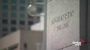 Afghanistan war veterans honoured at Edmonton city hall cenotaph in rededication ceremony (03:08)