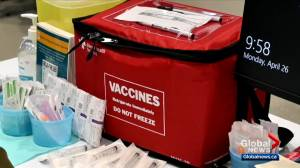 Excitement in Alberta COVID-19 vaccine rollout expands to general population (02:28)