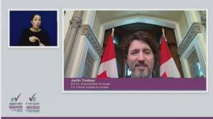 International Women's Day: House of Commons 'is your house', Trudeau tells Daughters of the Vote delegates (02:01)