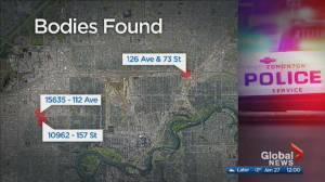 3 bodies found in Edmonton over 9 hours