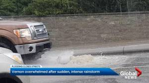 Heavy rain leads to flash flooding in Vernon