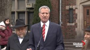 'We will not accept it': DeBlasio responds following series of attacks in Jewish communities