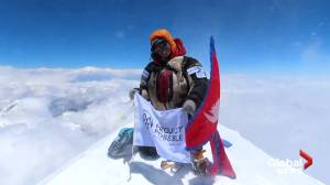 Man smashes record for scaling world's highest mountains