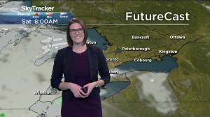 10 cm of snow possible in Peterborough area with weekend system