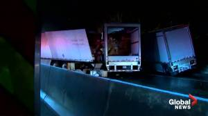 Multiple dead after tractor-trailers, bus crash in Pennsylvania (00:52)