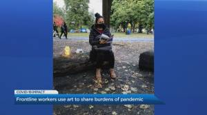 Front-line workers at North York Community House are turning their pandemic stories into works of art (03:30)