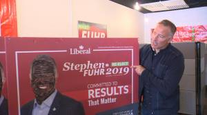 Just one day after brownface photos surface of Justin Trudeau, election signs in the Okanagan are vandalized with the candidate's face being painted black.