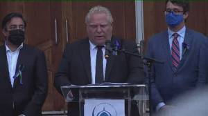 Ford says racism can't and won't be tolerated during vigil of London, Ont. family killed (01:56)