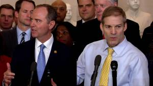 Schiff, Jordan speak about Sondland and whistleblower after first impeachment hearing