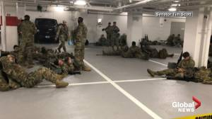 Lawmakers, first lady thank National Guard troops after 'parking garage' controversy (02:36)