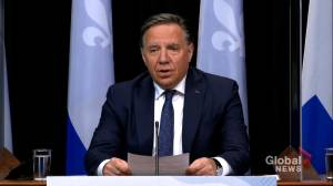 Legault says Montreal, Laval to stay as COVID-19 red zones until at least June 7 (01:51)