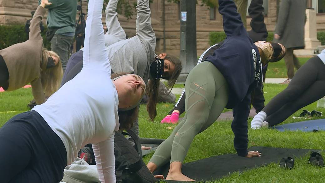 Ontario fitness studio owners protest gym closures take fight to Queen's Park'