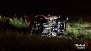 Impaired driving charges laid following rollover south of Peterborough (00:32)