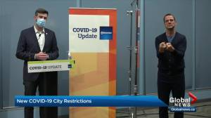 Edmonton to temporarily close 22 arenas, urges people to avoid non-essential travel (02:33)