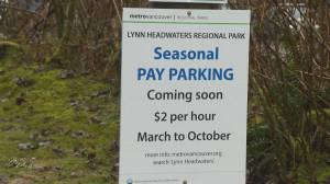 Seasonal pay parking coming to two Metro Vancouver parks (01:52)