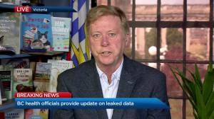 B.C. health officials provide update after leaked data (10:34)