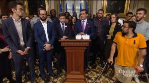 Quebec opposition parties build common front to denounce changes to student immigration program