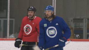 NHL players back on the ice