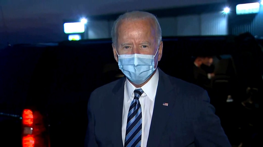 Click to play video 'Biden says 2nd presidential debate shouldn't happen if Trump still has COVID-19'