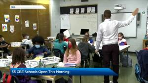 CBE students on modified calendar return to class Tuesday (02:21)