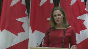 Freeland says some modifications to CUSMA were needed for ratification in U.S.