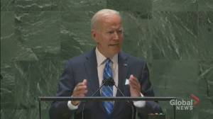 UNGA 2021: Biden says U.S. is seeking return to Iran nuclear deal, 'complete denuclearization' of Korean peninsula (00:49)