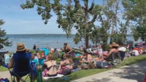 Beachgoers crowd Sylvan Lake despite pandemic rules