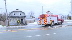 One woman in hospital following a fire in Belleville and no cause found in Kingston blaze (01:53)