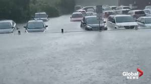 Severe thunderstorm hits Toronto area causing flooding, power outages (03:49)