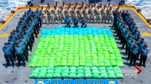 HMCS Calgary makes record-breaking heroin bust overseas (01:57)