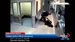 Calgary police officer avoids jail time after being convicted of assault (02:06)