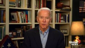 Coronavirus outbreak: Biden calls Trump's Easter deadline for end to U.S. shutdown 'arbitrary' (00:57)