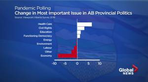 Issues important to Albertans changing amid pandemic; Trudeau now most popular leader (01:51)
