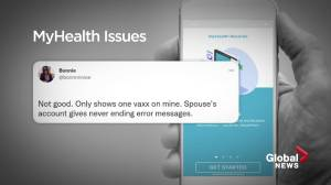 Albertans have trouble getting proof of vaccination on MyHealth website and app (02:07)
