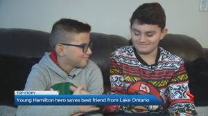 Boy saves friend from drowning in icy Hamilton Harbour