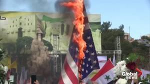Syrians condemn U.S. killing of Soleimani (01:46)